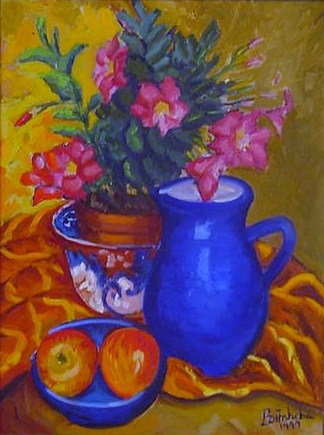 Still Life with Blue Jug