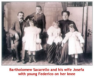 Bartholomew Sacarello and his family