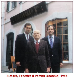 Richard, Federico and Patrick Sacarello circa 1988