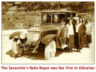 The Sacarello's Rolls Royce was the very first Rolls Royce in Gibraltar
