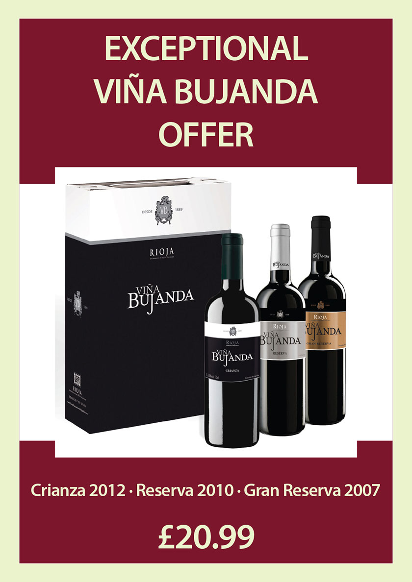Bujanda wine offer