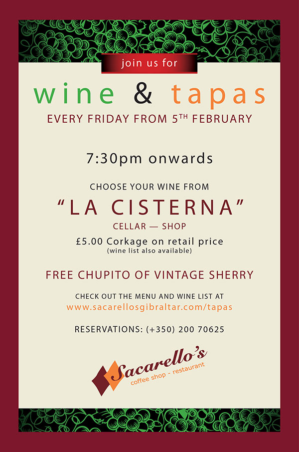Friday Tapas at Sacarello's